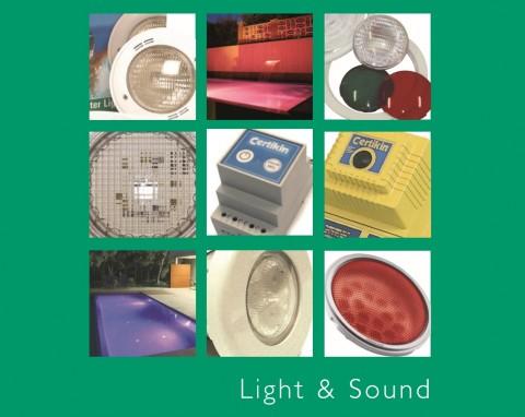 Certikin Ljud och Ljus katalog, Certikin pooltillbehör på Nordiska Kvalitetspooler, San Juan glasfiberpooler, Marquis Spabad, pooltillebehör, spabadstillbehör