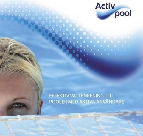 Activ Pool broschyr, poolkem, skandinaviskt pool kem