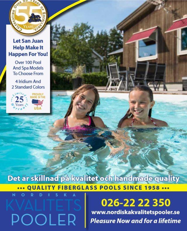 San Juan glasfiberpooler katalog 2016, San Juan fiberglass pools 2016 svenska, swedish katalogue, Svensk katalog på glasfiberpooler