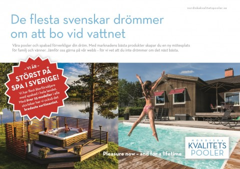 Villafakta Nordiska Kvalitetspooler i Sverige, Marquis spabad och San Juan glasfiberpooler Kampanj! Störst på spabad i Sverige.
